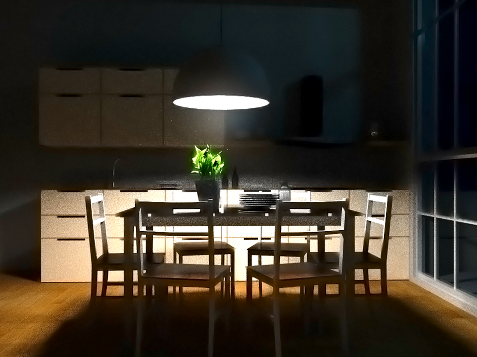 Dark Kitchen At Night rendering engine for my final year project